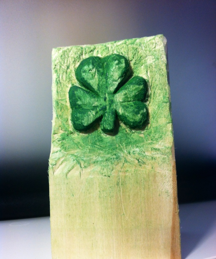 Shamrock Relief Carving