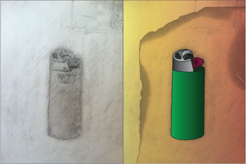 lighter-sketch-illustrated-adobe-illustrator